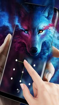 Ice Wolf Live Screen Lock screenshot 2