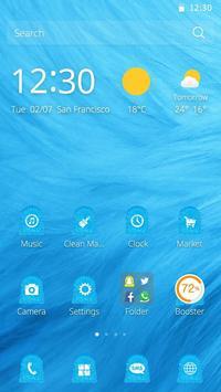 Blue Fur Theme screenshot 1