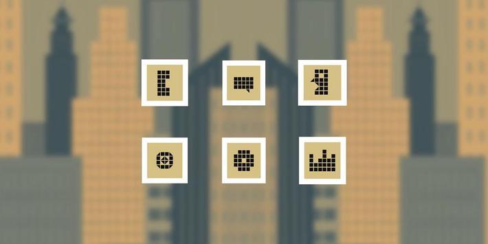 Pixel City Theme poster