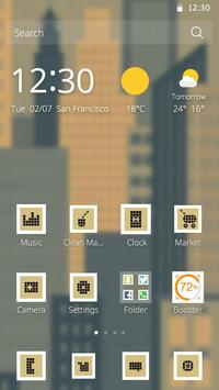 Pixel City Theme apk screenshot
