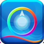 Blue glow Theme icon