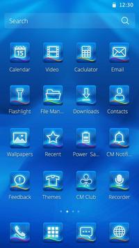 Blue glow Theme screenshot 2