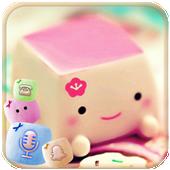 Marshmallow Candy Face Theme icon