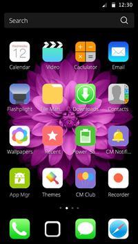 Purple Flower Theme apk screenshot