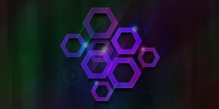 Polygon Neon Theme poster