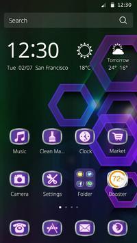 Polygon Neon Theme apk screenshot