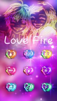 Love Fire Theme poster
