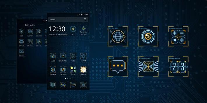 CM Core Inside Tech Theme apk screenshot