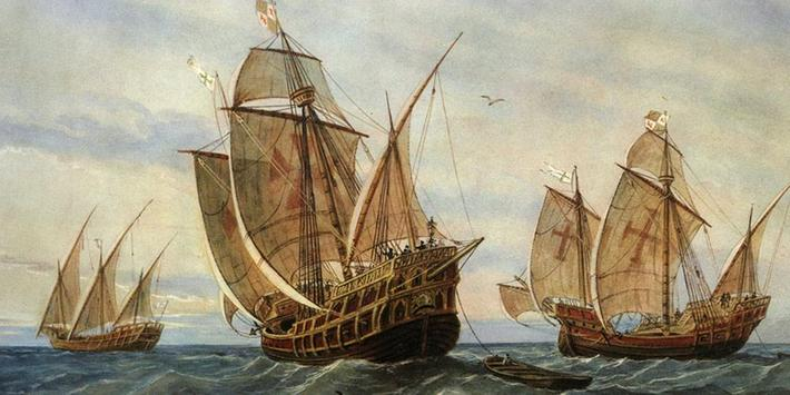 Columbus Ship Theme poster
