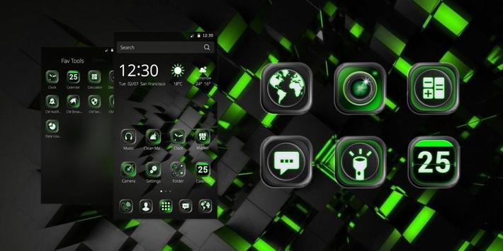 thème de la technologie noire capture d'écran 3