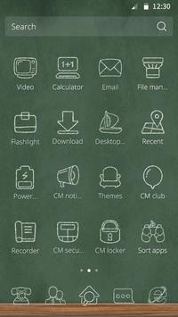 Chalk and Campus Theme apk screenshot