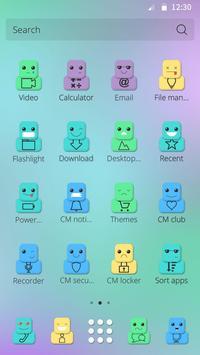 Cute Face Theme apk screenshot