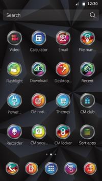 Black Colorful Prism Theme apk screenshot