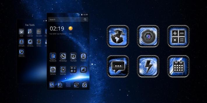 Orbitor Dark Space Tech Theme poster