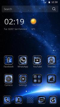 Orbitor Dark Space Tech Theme apk screenshot