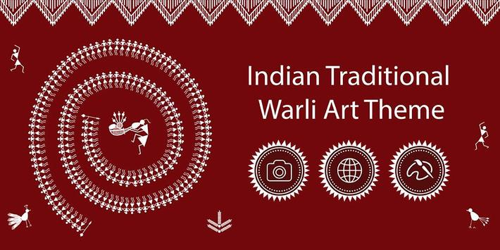 Warli Art Theme poster
