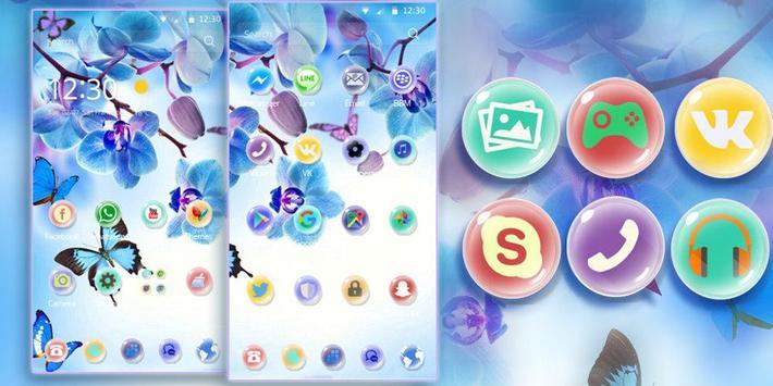 Orchid Theme Blue Dream apk screenshot