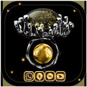 Gold Football Theme Diamond icon