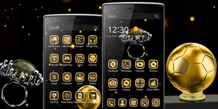 Gold Football Theme Diamond screenshot 7