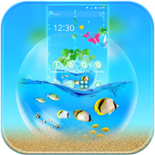 Blue Water Theme Aquarium icon