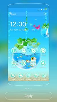 Blue Water Theme Aquarium poster