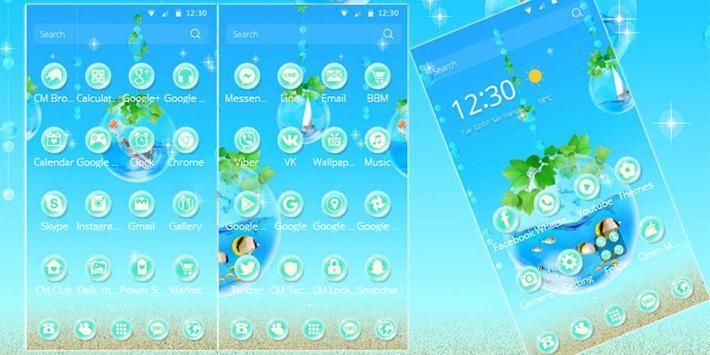 Blue Water Theme Aquarium screenshot 4