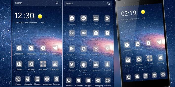 Galaxy Theme Universe screenshot 2