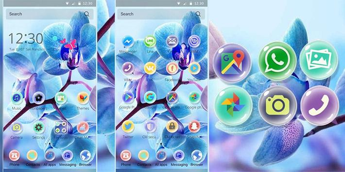 Orchid Flower Theme blossom apk screenshot
