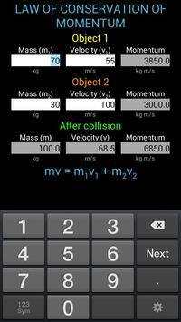 Momentum Calculator screenshot 1