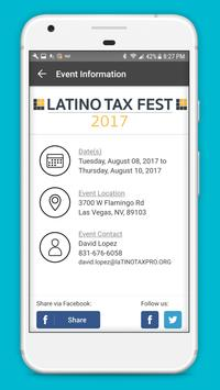 Latino Tax Professionals Association Events poster