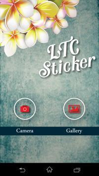 M Sticker poster