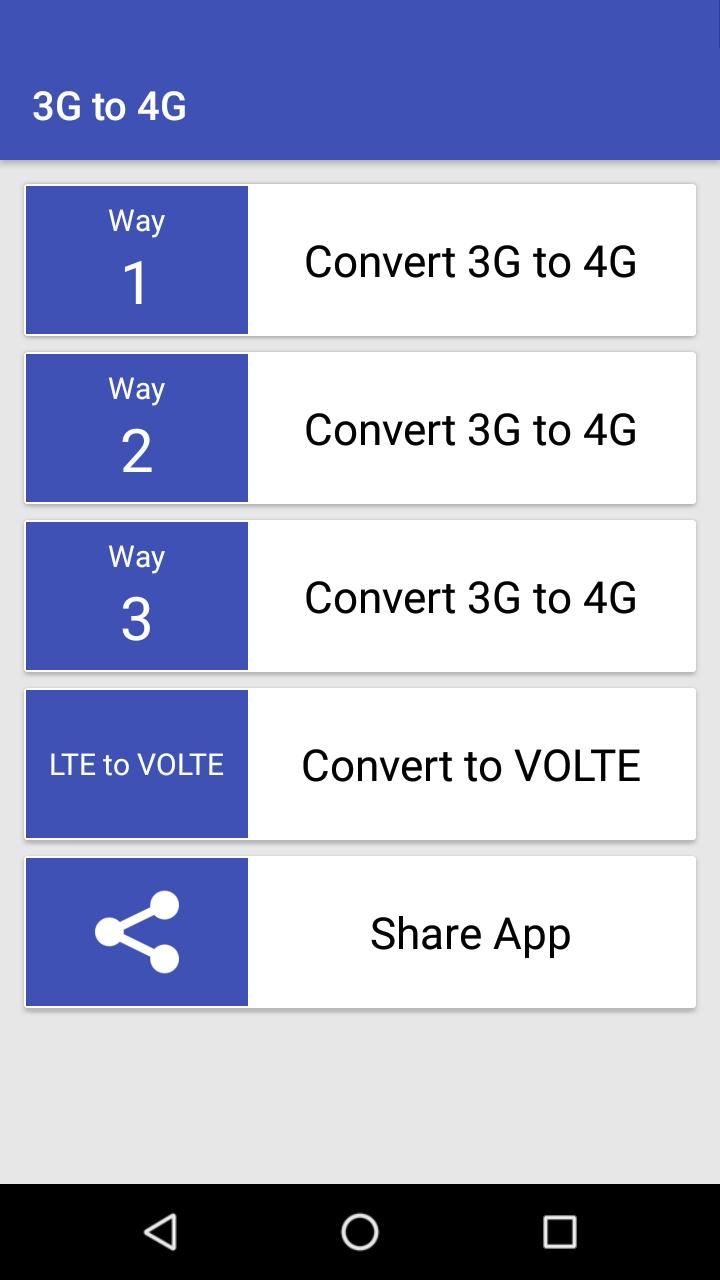 4G on 3G Phone VoLTE for Android - APK Download