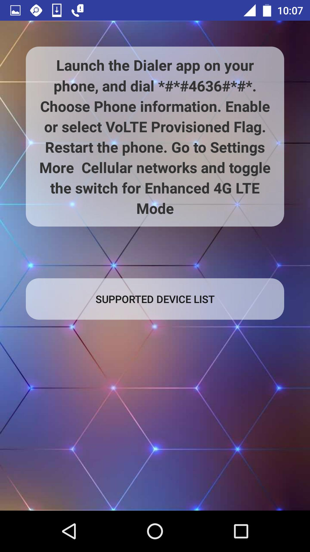 3G&LTE-4G to VoLTE call helper for Android - APK Download