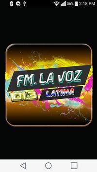 FM LA VOZ LATINA 101.3 poster