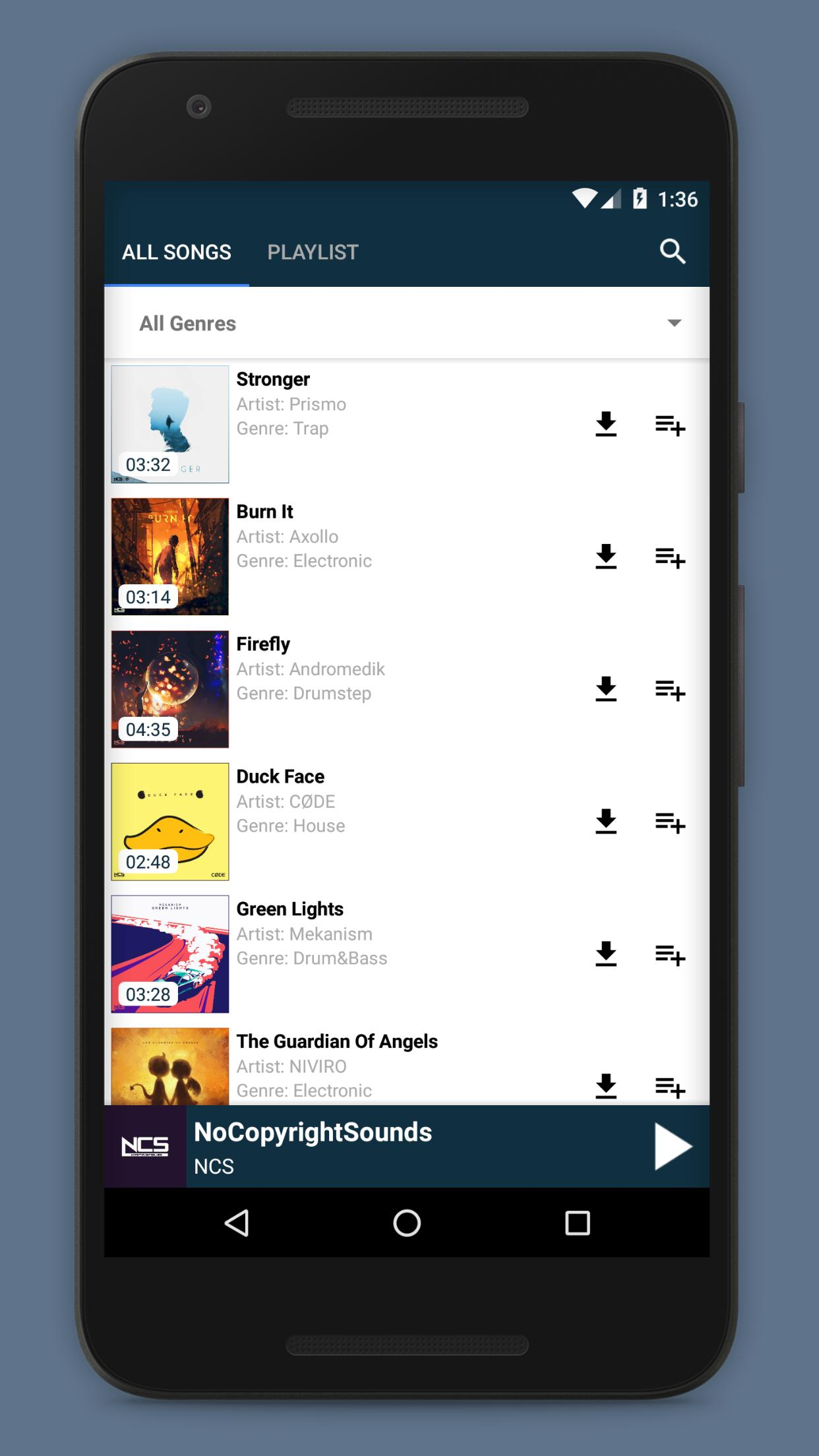 Music player for NCS (NoCopyrightSounds) for Android - APK