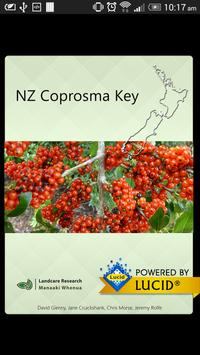 NZ Coprosma Key poster