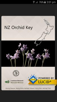 NZ Orchid Key poster