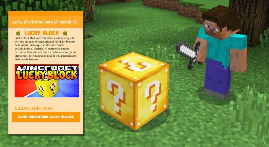 Lucky Block Mod for Minecraft PE for Android - APK Download