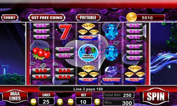 Triple Diamond Slot Machine screenshot 1
