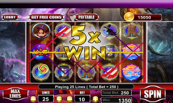Free Wizard of Oz Slots Machine screenshot 1