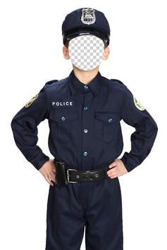 Kids Police Photo Montage poster
