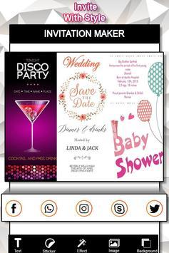 Invitation Card Maker : Flyer Creator screenshot 9