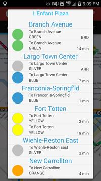 WMATA - DC Metro screenshot 2