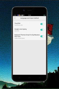 Keyboard Themes Emoji For Egi Maulana Fikri Fans screenshot 1