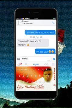 Keyboard Themes Emoji For Egi Maulana Fikri Fans screenshot 4
