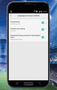 Keyboard Themes Emoji For Real Madrid Fans screenshot 1