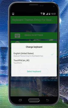 Keyboard Themes Emoji For Real Madrid Fans screenshot 2
