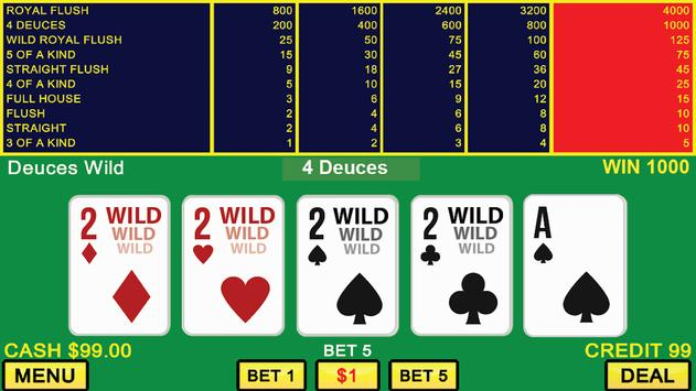 Deuces Wild Poker and Keno screenshot 1