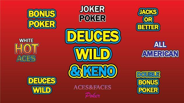 Deuces Wild Poker and Keno screenshot 4