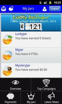 LuckyJar Affiliate Application screenshot 3